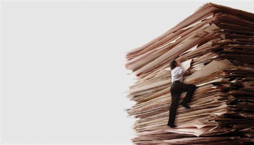 mountain of paperwork