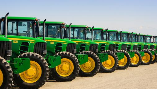 Deere & Co. Tractors in a Row
