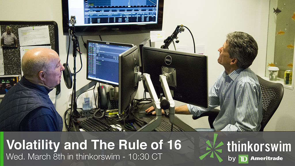 How traders can measure stock volatility with the Rule of 16.