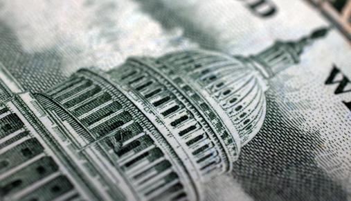 Close-up of U.S. dollar bill
