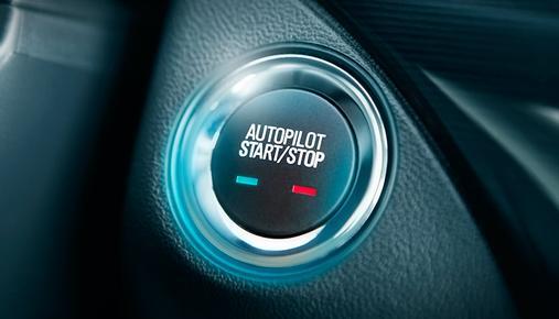 Autopilot Start Button in a Driverless Car