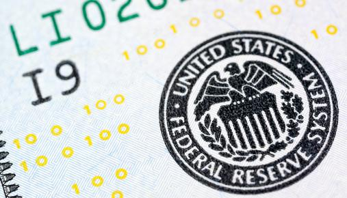 Federal Reserve System Seal on Dollar Bill