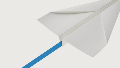 Paper airplane: Is the trend in price movement soaring or falling? Draw trendlines to find out.