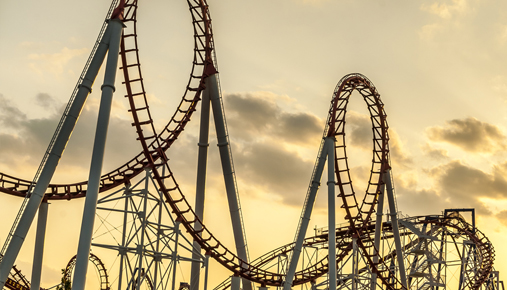 Volatility roller coaster: VIX slips down and the S&P looks up to new highs