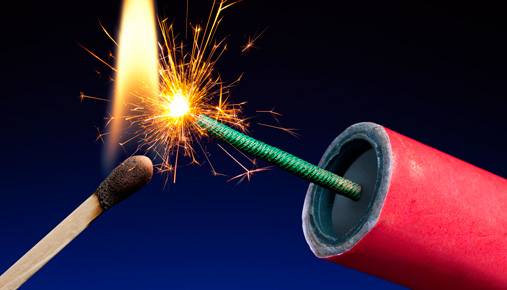Lighting a firework: Market volatility gets more volatile