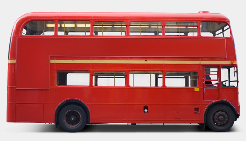 Red bus: Currency exchange rates and travel destinations