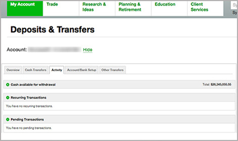 Deposits & Transfers: Four New Activity Tab Features